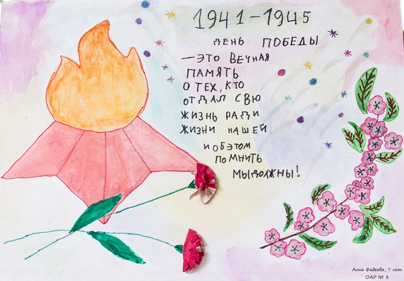Конкурс рисунков  ко Дню Великой Победы