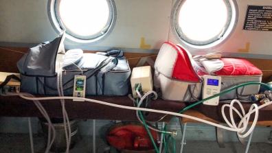 Специалисты Краевого центра охраны материнства и детства транспортировали двойню с экстремально низкой массой тела не разлучая их
