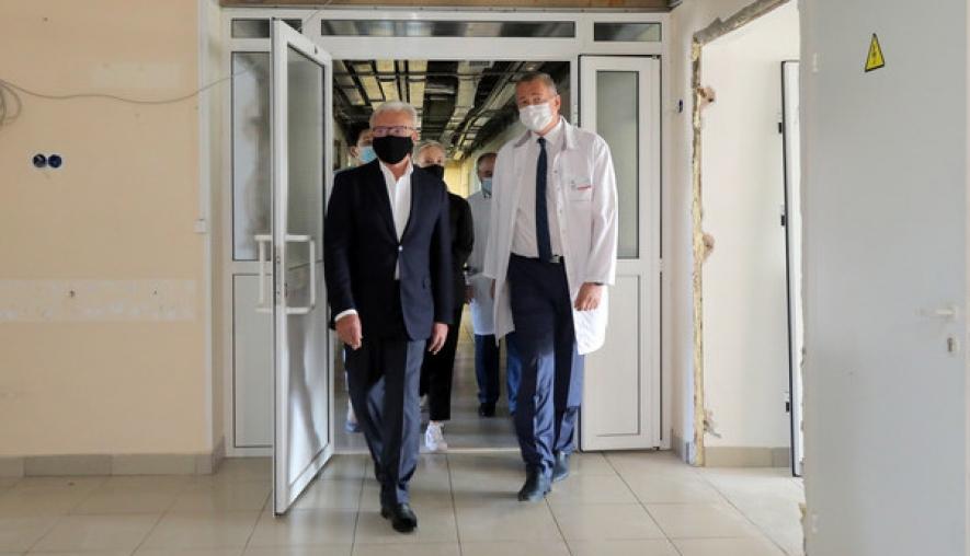 В Красноярском краевом центре охраны материнства и детства начался ремонт отделения трансплантологии костного мозга